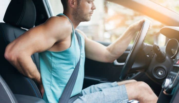 Back pain from driving for too long