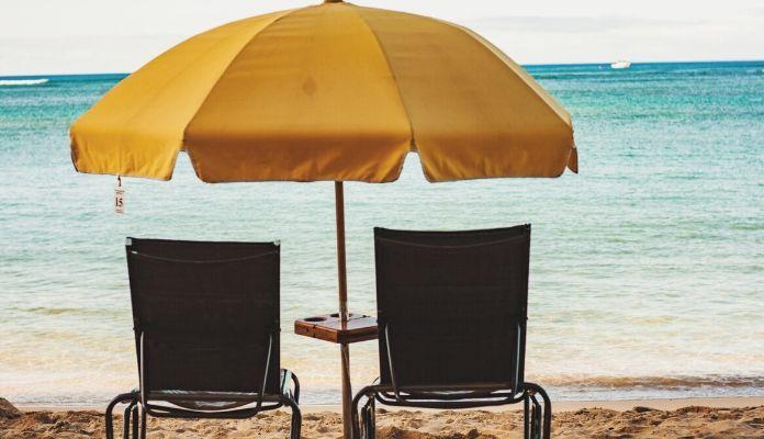 Huge umbrella offering shade
