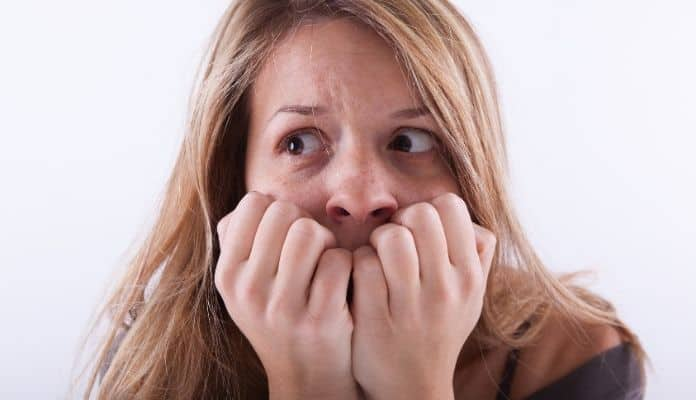 Anxious woman with anxiety disorder
