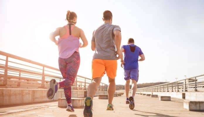 A group of joggers